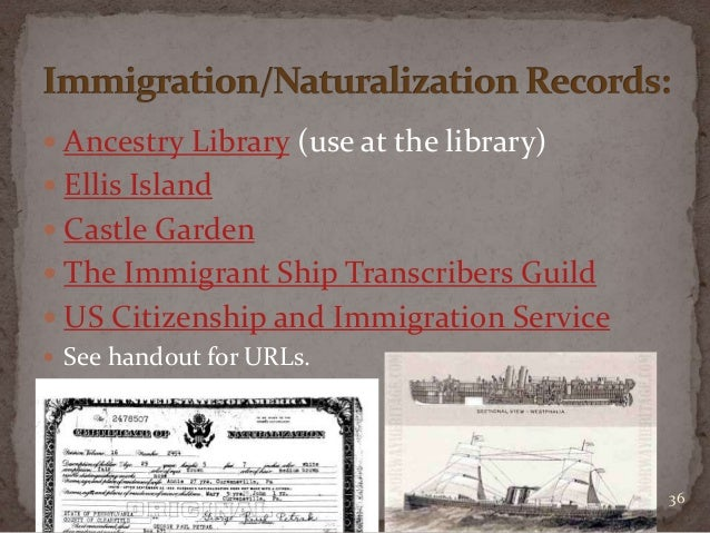Jewish genealogical research for Castle garden immigration records