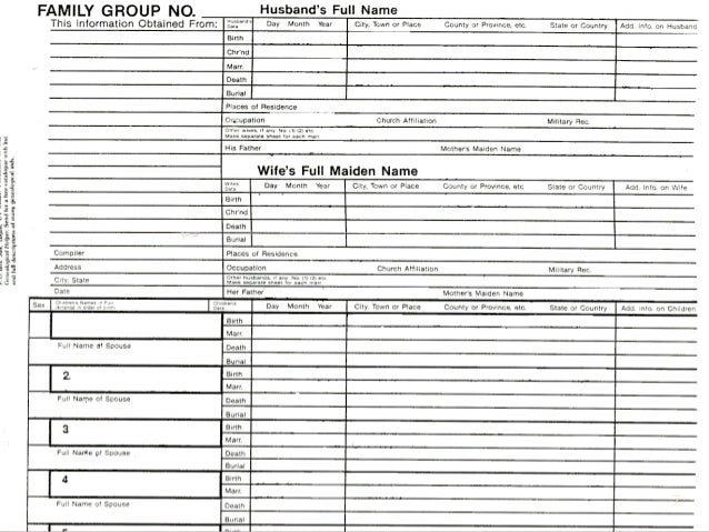 Family Group Sheet Template Fillable Ancestor Pedigree How To Fill Out A Genealogy Chart