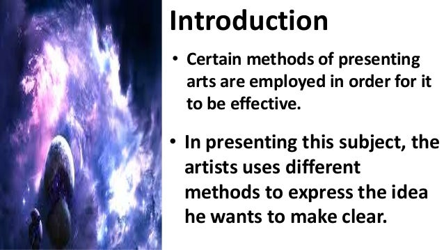 methods of presenting art subject The visual arts are art forms such as ceramics, drawing, painting, sculpture,  visual arts have now become an elective subject in most education systems.
