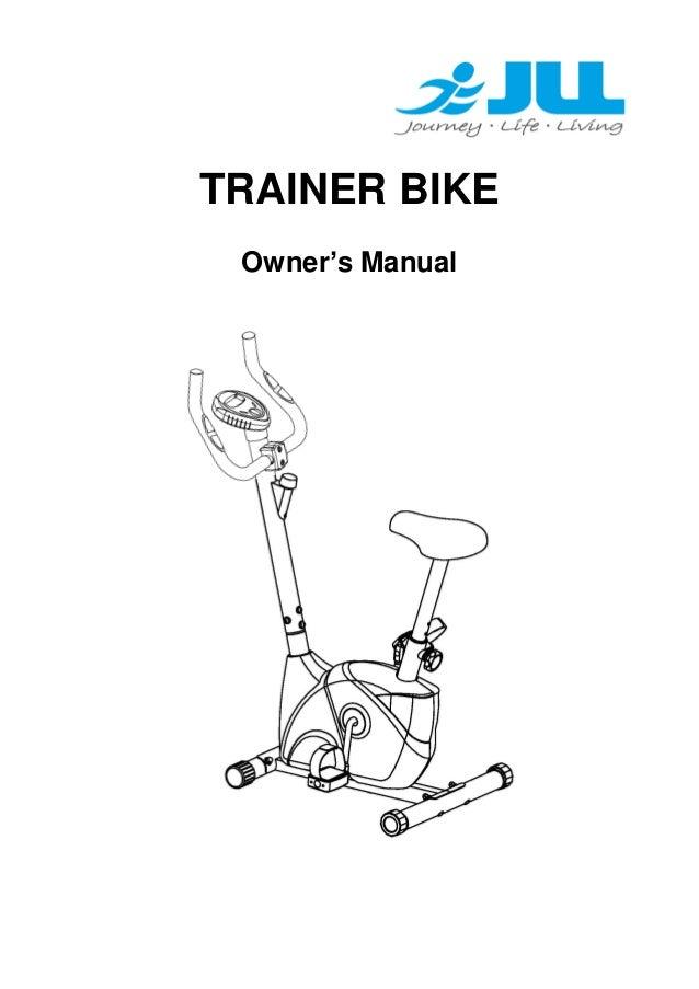 JLL JF 100 Excercise Bike Manual