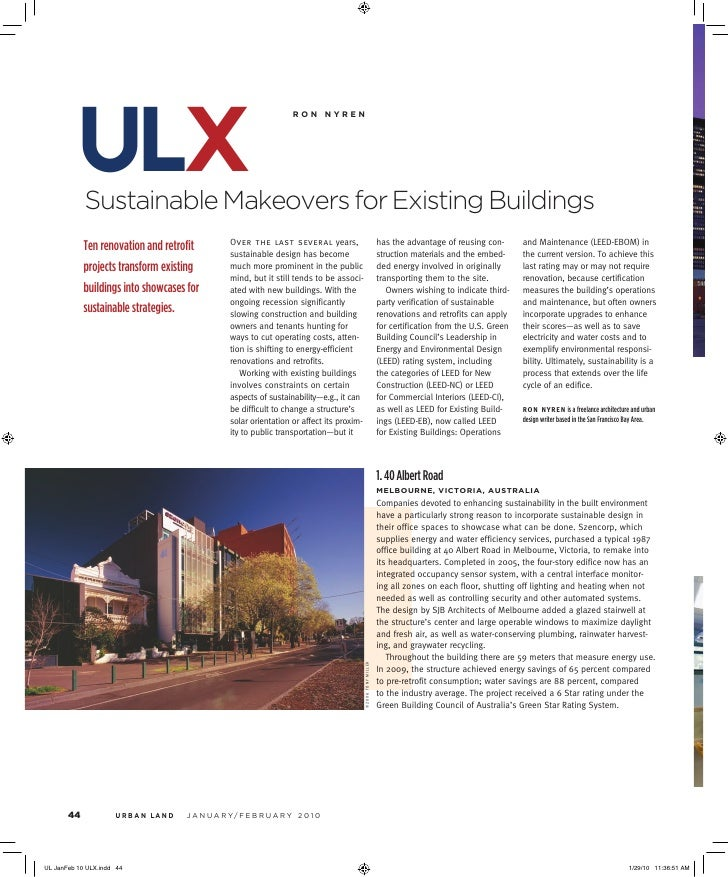 ulx Sustainable Makeovers for Existing Buildings                                                  ronnyren               ...