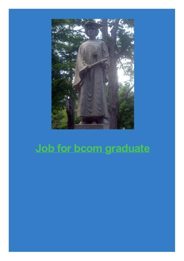 Job for bcom graduate