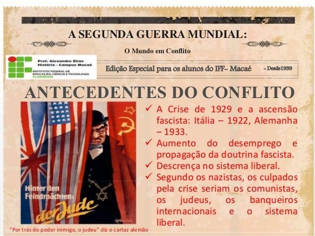 A SEGUNDA GUERRA MUNDIAL:  O Mundo em Conflito  Edição Especial para os alunos do IFF- Macaé - Desde1939  ANTECEDENTES DO ...