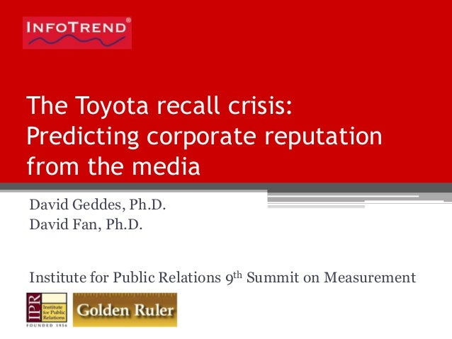 toyota recall crisis The toyota motor corporation is facing the most severe crisis in its history   covered in a series of recalls involving floor mats and gas peddles.