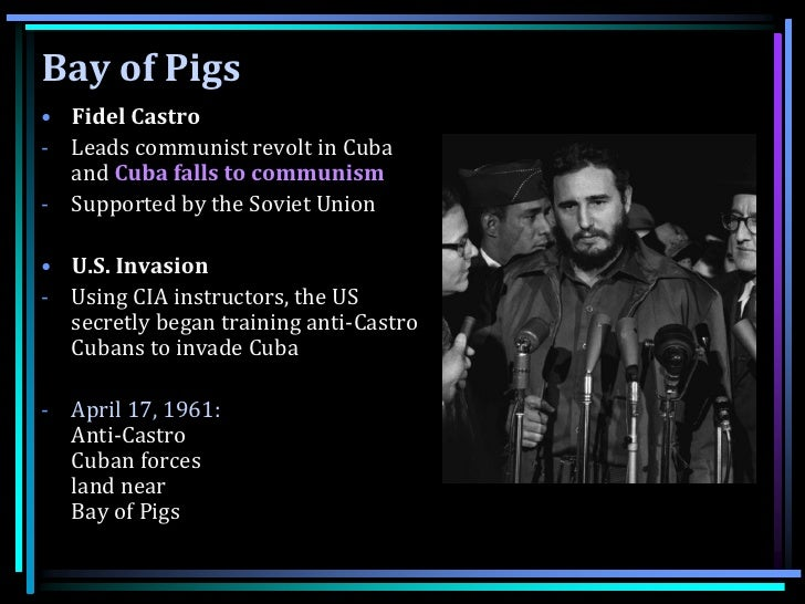 the political impact on the failure at the bay of pigs invasion Bay of pigs larry gilman the bay of pigs (bah í a de cochinos) is a small bay on the southern coast of cuba that was invaded on april 17, 1961 by approximately 1,400 cuban exiles organized and armed by the united states central intelligence agency ()the invasion was meant to appear to be an attempt by independent cuban rebels to overthrow.