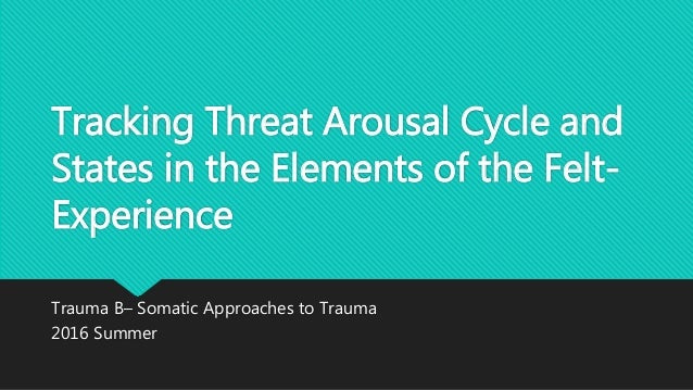 Tracking Threat Arousal Cycle and States in the Elements of the Felt- Experience Trauma B– Somatic Approaches to Trauma 20...