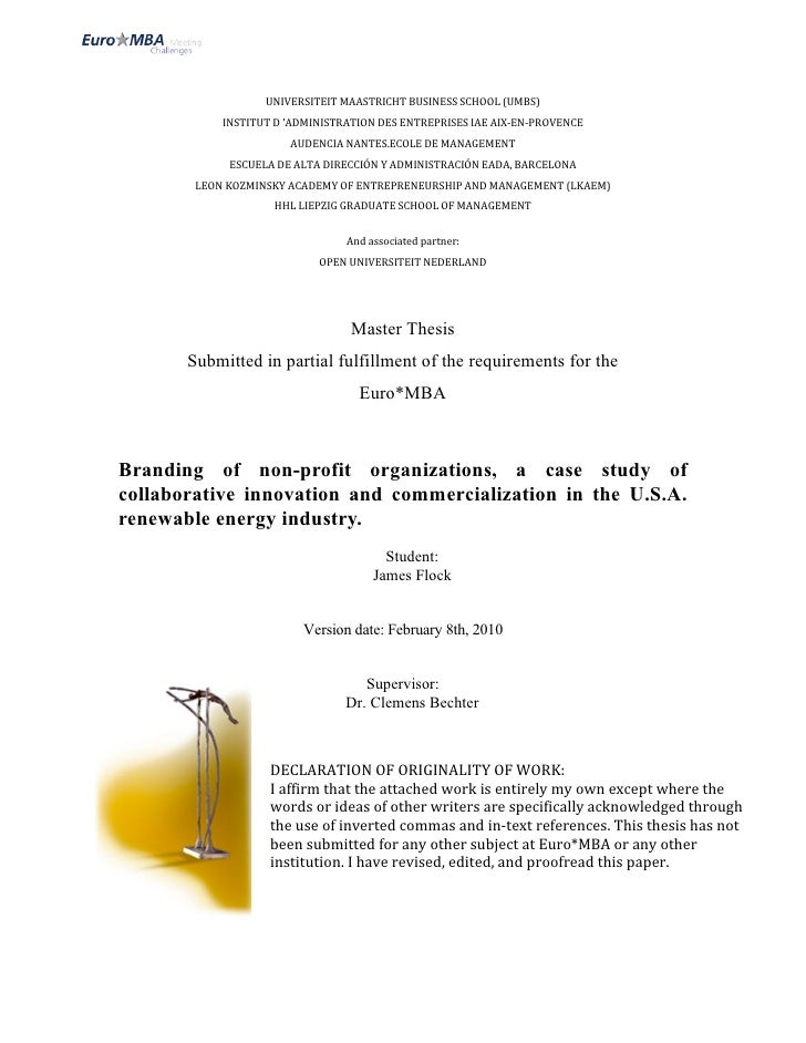 UNIVERSITEITMAASTRICHTBUSINESSSCHOOL(UMBS)             INSTITUTD'ADMINISTRATIONDESENTREPRISESIAEAIX‐EN‐PROVENCE...