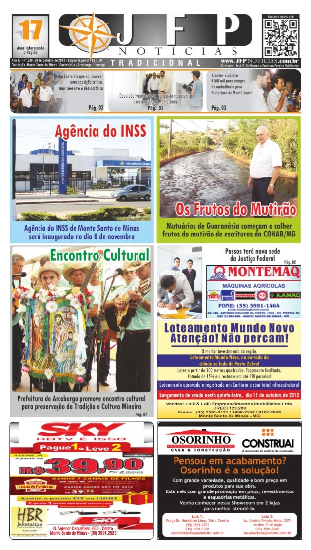 R. Antenor Carvalhaes, 650 - CentroMonte Santo de Minas - (35) 3591.2823