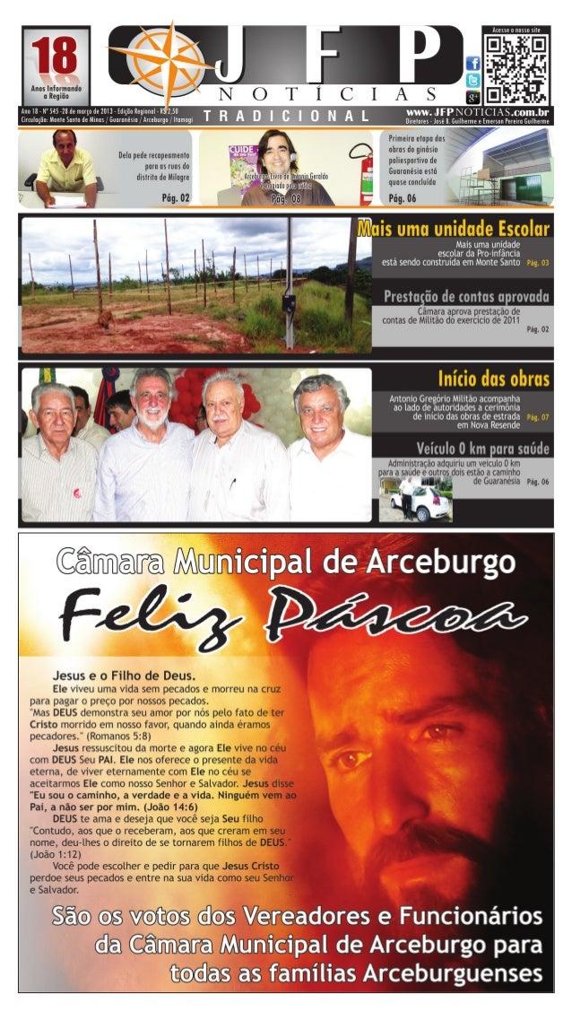 02             28 de março de 2013   Cidades                                         Monte Santo de Minas     Câmara aprov...