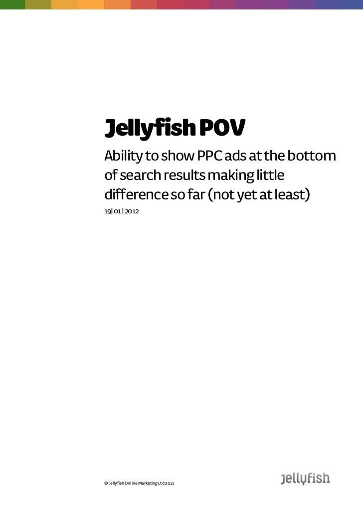 Jellyfish POVAbility to show PPC ads at the bottomof search results making littledifference so far (not yet at least)19| 0...