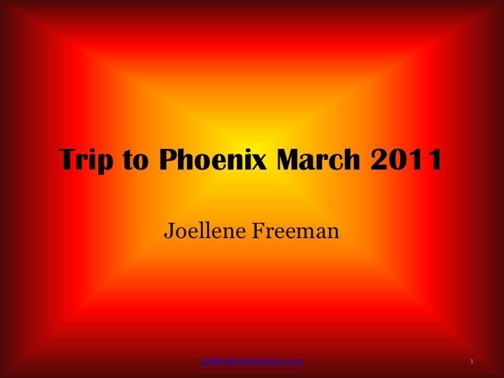 Trip to Phoenix March 2011       Joellene Freeman          joellenefreeman@msn.com   1