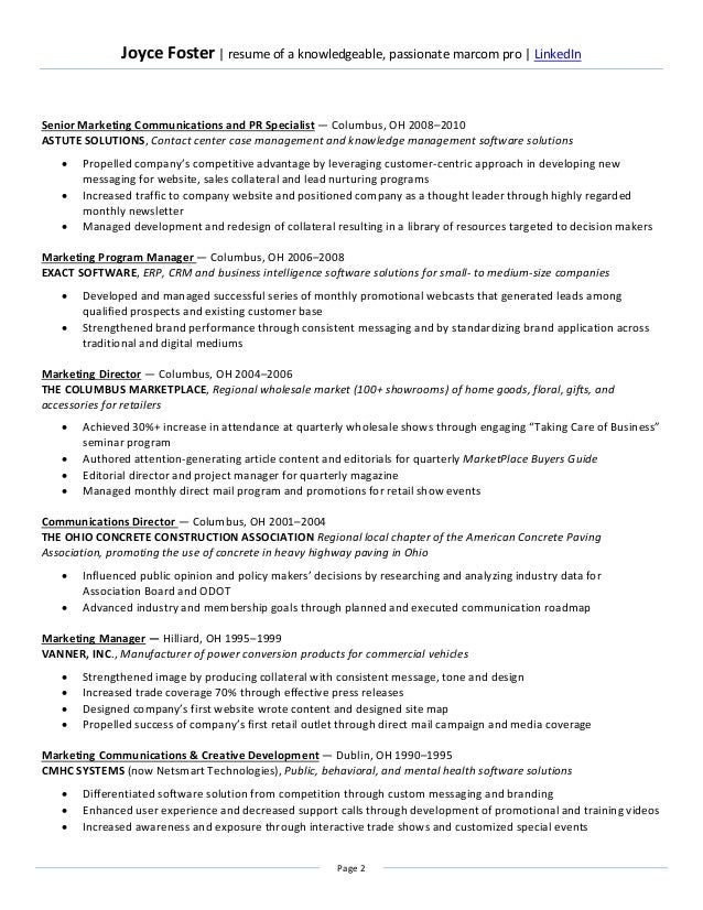 Knowledgeable in resume