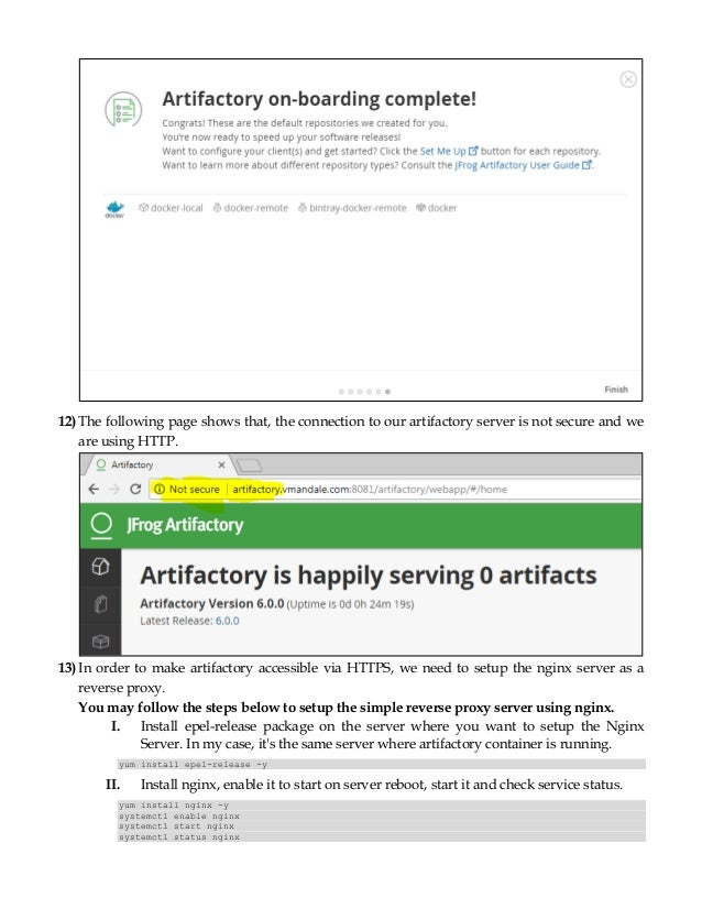 Jfrog artifactory as private docker registry