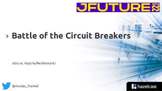 @nicolas_frankel Istio vs. Hystrix/Resilience4J Battle of the Circuit Breakers
