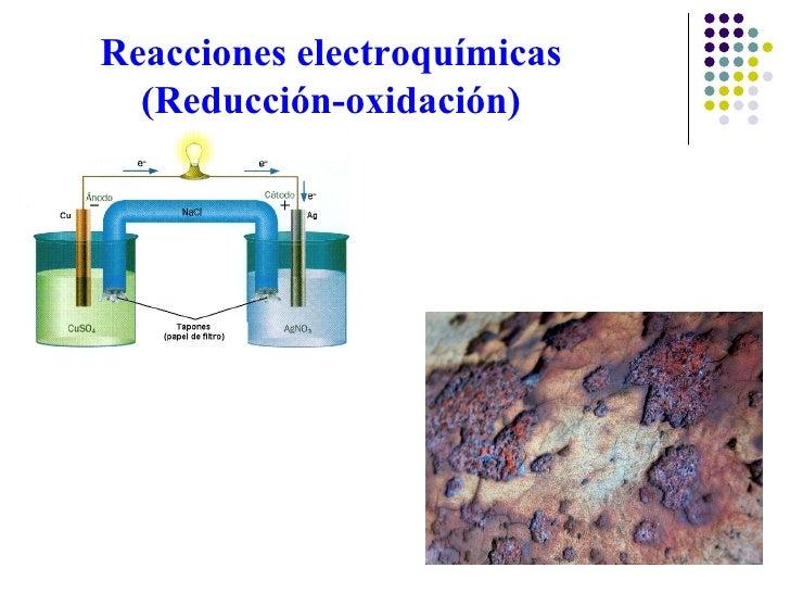 Reacciones electroquímicas (Reducción-oxidación)