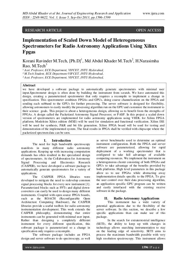MD Abdul Khader et al Int. Journal of Engineering Research and Application ISSN : 2248-9622, Vol. 3, Issue 5, Sep-Oct 2013...
