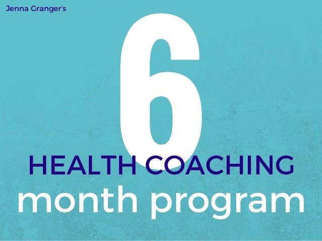 Health Coaching 6 Month Breakdown