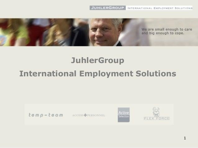 1 JuhlerGroup International Employment Solutions