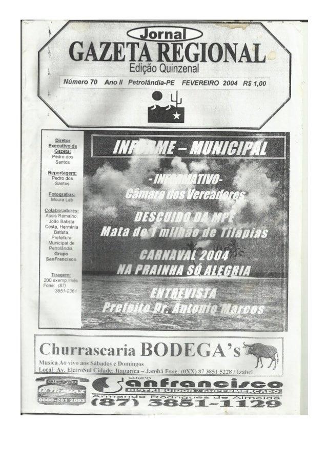 Jornal Gazeta Regional nº 70 (Fev/04)