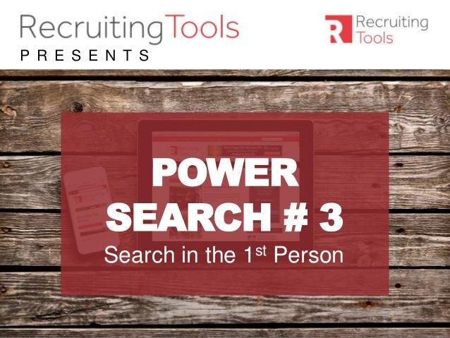 #RDaily P R E S E N T S POWER SEARCH # 3 Search in the 1st Person
