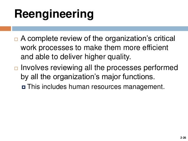 re engineering hr functions and processes