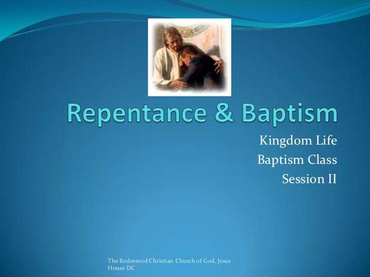 Kingdom Life                                              Baptism Class                                                  S...