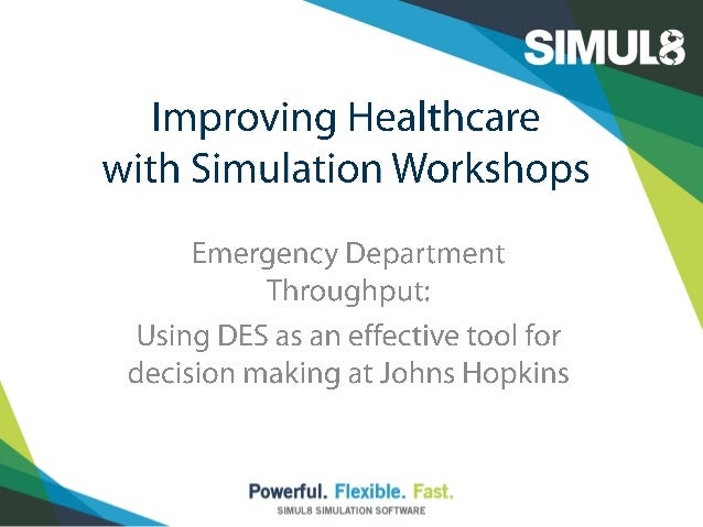 simulation model for emergency department A test-bed for emergency management simulations a case-study including live call data in new zealand  emergency response simulation using sensors have been performed [13] in order to co-ordinate and control the.