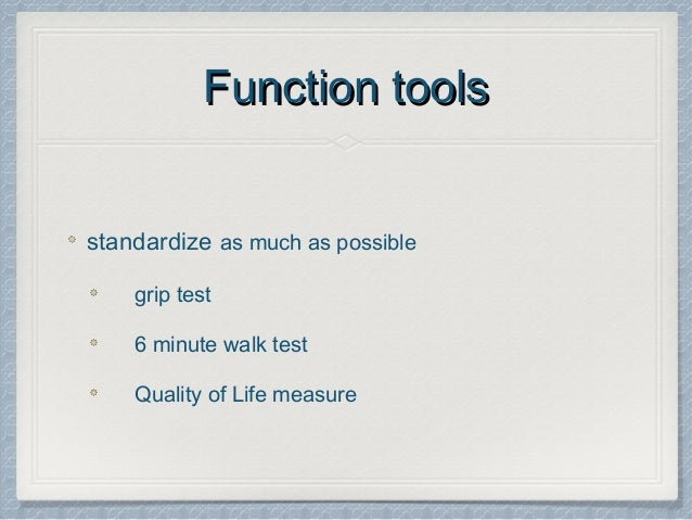 Minute Walk Test Quality Of Life Measure 10