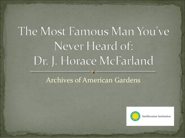 Archives of American Gardens