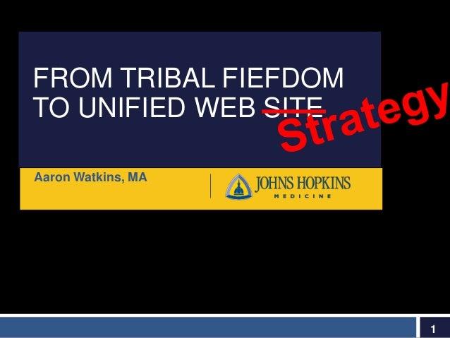 FROM TRIBAL FIEFDOM TO UNIFIED WEB SITE Aaron Watkins, MA 1 __