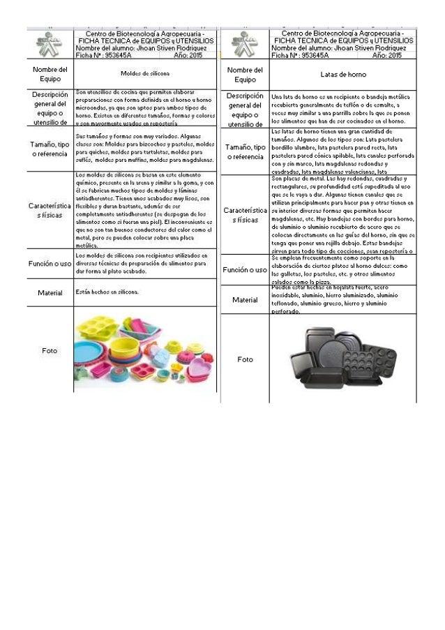 Centro de Biotecnologia Aqrooecuaria - FICHà TECNICA de EQUIPOS u UTENSILIOS Nombre del alumno:  Jhoan Stiven Rodriguez Fi...
