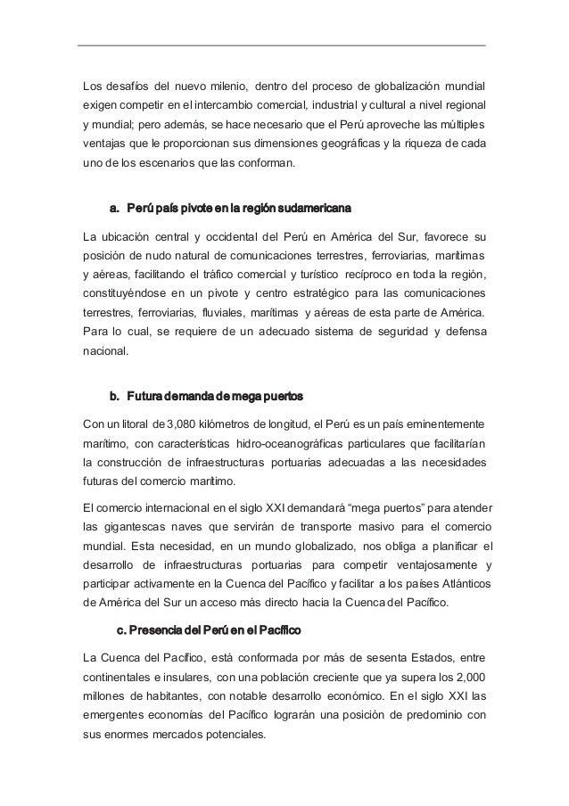 c. Proyección geopolítica bioceánica de lPerú El río Amazonas accede a la cuenca hidrográfica del Orinoco, la que se proye...