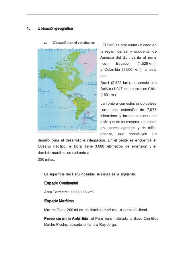 El Perú es el tercer país más grande de América del Sur, después de Brasil y Argentina, siendo su capital la ciudad de Lim...