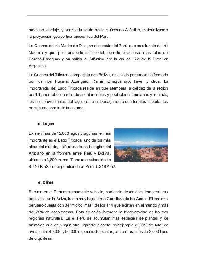 f. El Mar La presencia de la Cordillera de los Andes y el afloramiento costero de masas de aguas frías proveniente de la C...