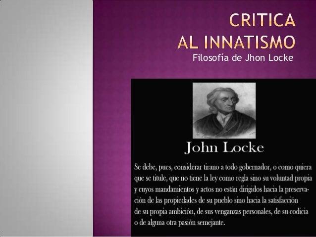 Filosofía de Jhon Locke