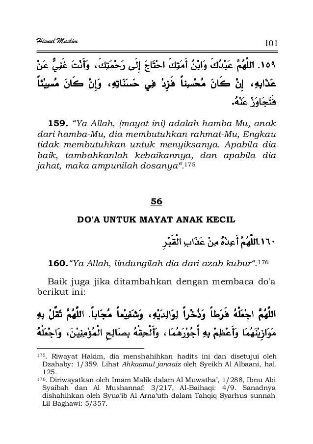 """Hisnul Muslim 101 KKKK¯¯¯¯ . 159. """"Ya Allah, (mayat ini) adalah hamba-Mu, anak dari hamba-Mu, dia membutuhkan rahmat-Mu, E..."""