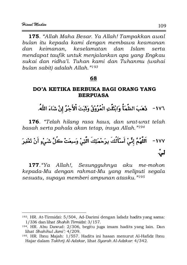 """Hisnul Muslim 109 175. """"Allah Maha Besar. Ya Allah! Tampakkan awal bulan itu kepada kami dengan membawa keamanan dan keima..."""
