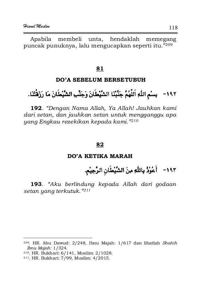 """Hisnul Muslim 118 Apabila membeli unta, hendaklah memegang puncak punuknya, lalu mengucapkan seperti itu.""""209 81 DO'A SEBE..."""