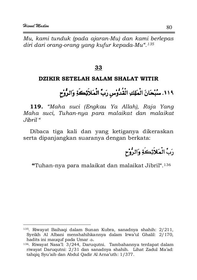 """Hisnul Muslim 80 Mu, kami tunduk (pada ajaran-Mu) dan kami berlepas diri dari orang-orang yang kufur kepada-Mu"""".135 33 DZI..."""