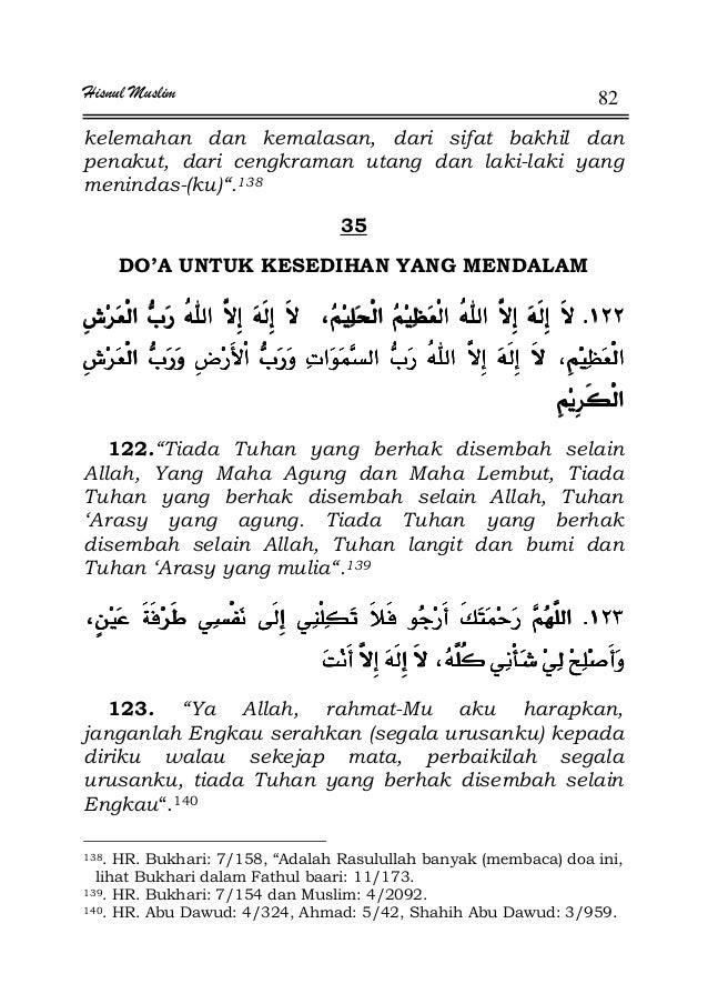 Hisnul Muslim 82 kelemahan dan kemalasan, dari sifat bakhil dan penakut, dari cengkraman utang dan laki-laki yang menindas...