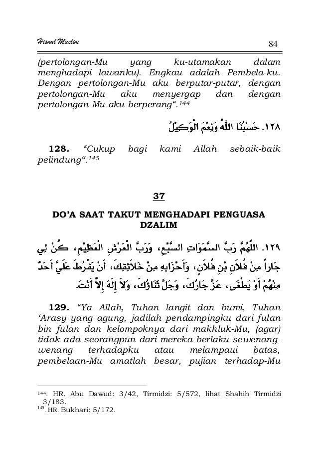 Hisnul Muslim 84 (pertolongan-Mu yang ku-utamakan dalam menghadapi lawanku). Engkau adalah Pembela-ku. Dengan pertolongan-...