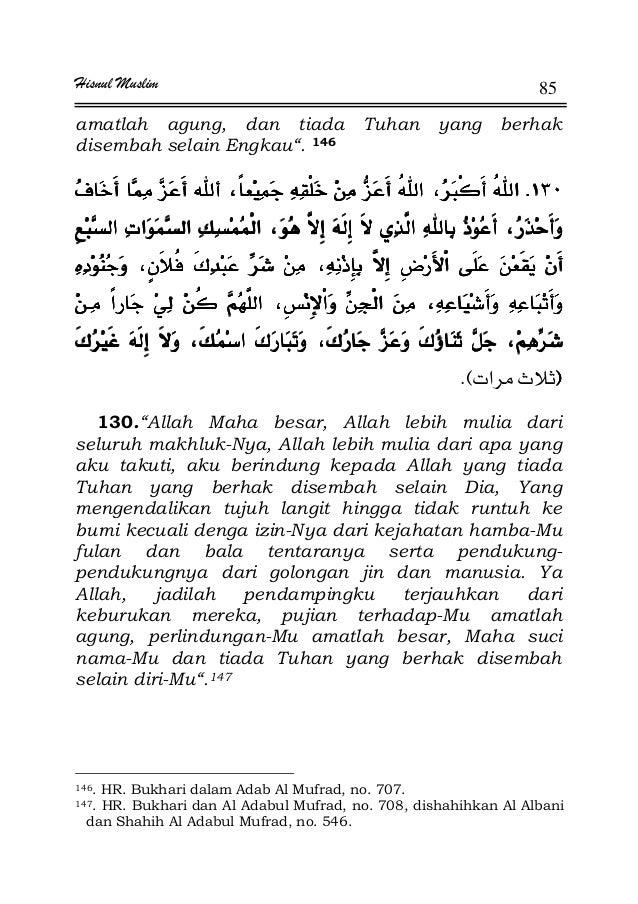 "Hisnul Muslim 85 amatlah agung, dan tiada Tuhan yang berhak disembah selain Engkau"". 146 KKKKúúúú ªªªª ¯ ¯ ¯ ¯  ¯ ¯¯ ¯..."