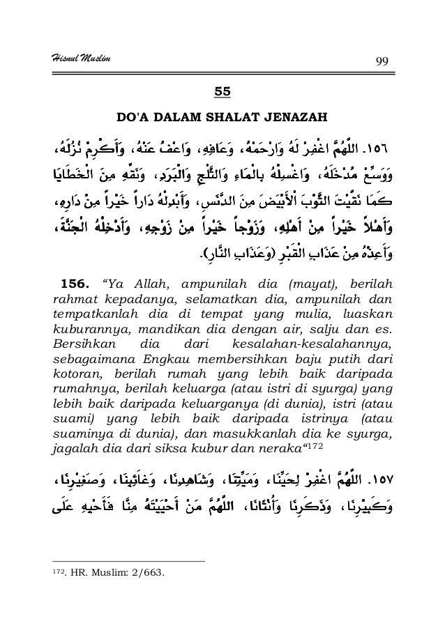"Hisnul Muslim 99 55 DO'A DALAM SHALAT JENAZAH KKKK ªªªª ªªªªFFFFªªªªEEEEKKKK 156. ""Ya Allah, ampunilah dia (mayat), berila..."