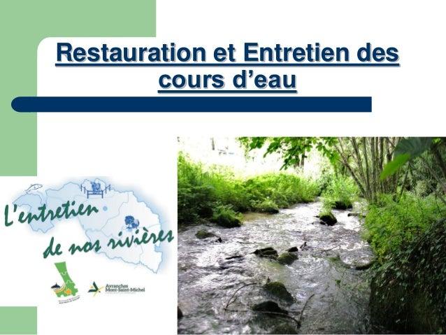 Restauration et Entretien des cours d'eau