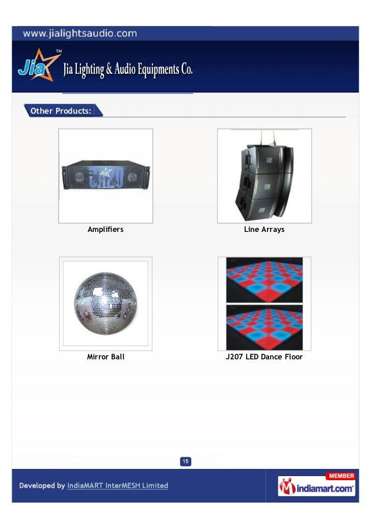Jia Lighting Amp Audio Equipments Co Delhi J103 1w X 36
