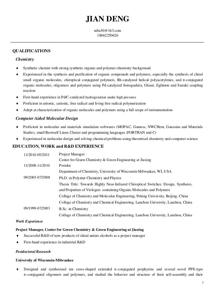 SlideShare  Chemist Resume