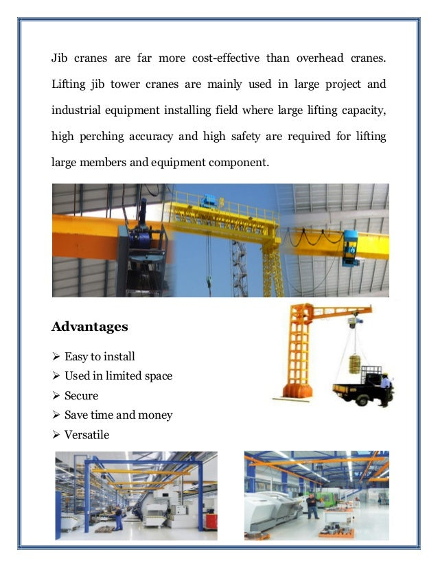 Jib Cranes Slide 2