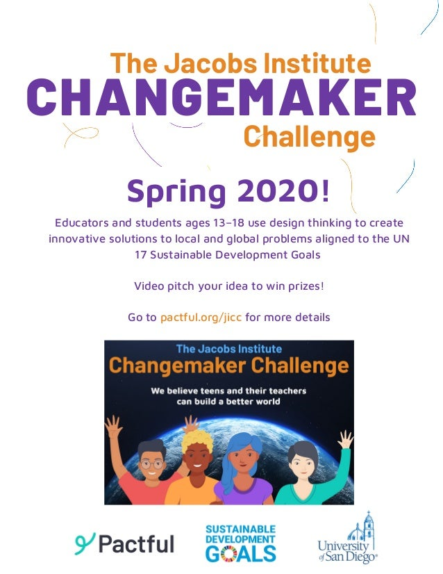 Educators and students ages 13–18 use design thinking to create innovative solutions to local and global problems aligned ...