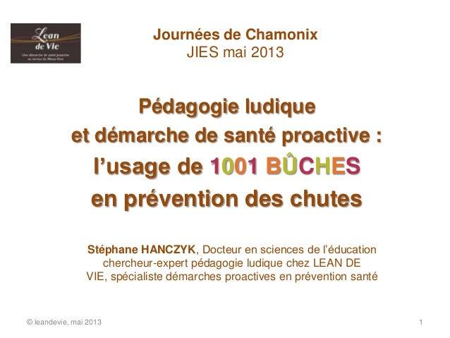 Pédagogie ludiqueet démarche de santé proactive :l'usage de 1001 BÛCHESen prévention des chutes© leandevie, mai 2013 1Jour...