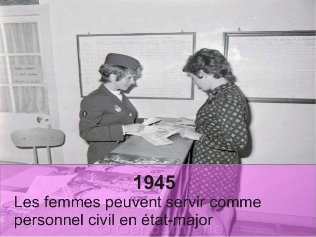 1945 Les femmes peuvent servir comme personnel civil en état-major